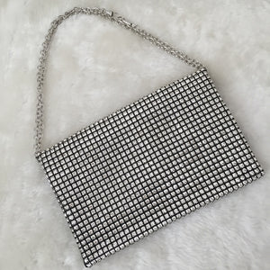 Fashion Ladies' bag - Diamonds Luxury Clutch in Silver color