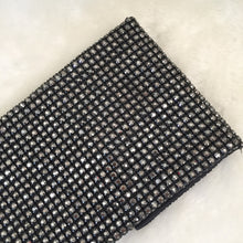 Load image into Gallery viewer, Fashion Ladies' bag - Diamonds Soft Beaded Clutch in Black color