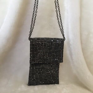 Fashion Ladies' bag - Diamonds Soft Beaded Clutch in Black color