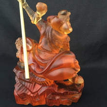 Load image into Gallery viewer, Kwan Kong statue (Guan Gong - Guan Yu) in Amber color (Large)
