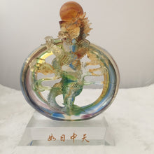 Load image into Gallery viewer, Amore Jewell Liuli Crystal Glass - Powerful Dragon ~ 如日中天龍