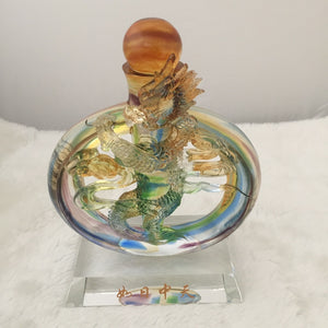Amore Jewell Liuli Crystal Glass - Powerful Dragon ~ 如日中天龍