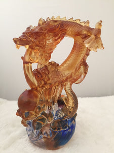 Amore Jewell Liuli Crystal Glass - New Large Dragon talent ~ 龍騰四海