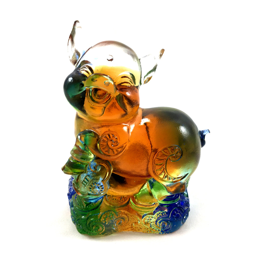 Amore Jewell Liuli Crystal Glass - New Pig  (the last animal of the Chinese Zodiac) ~ 12生肖