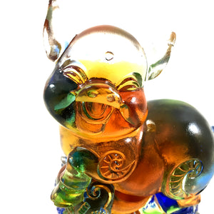 "Amore Jewell Liuli Crystal Glass - New Pig  (the last animal of the Chinese Zodiac) ~ 12生肖 ""豬"""