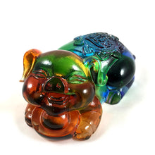 Load image into Gallery viewer, Amore Jewell Liuli Crystal Glass - Ingots Pig ~ Pig hold Ingots ~ 元寶豬
