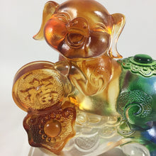 Load image into Gallery viewer, Amore Jewell Liuli Crystal Glass - Ru Yi Good Fortune Pig - Small size ~如意福豬