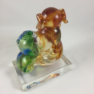 Amore Jewell Liuli Crystal Glass - Ru Yi Good Fortune Pig - Small size ~如意福豬