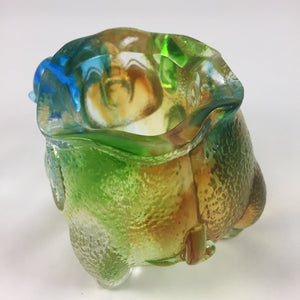 Amore Jewell Liuli Crystal Glass - Wealth Pig Pen holder ~福豬