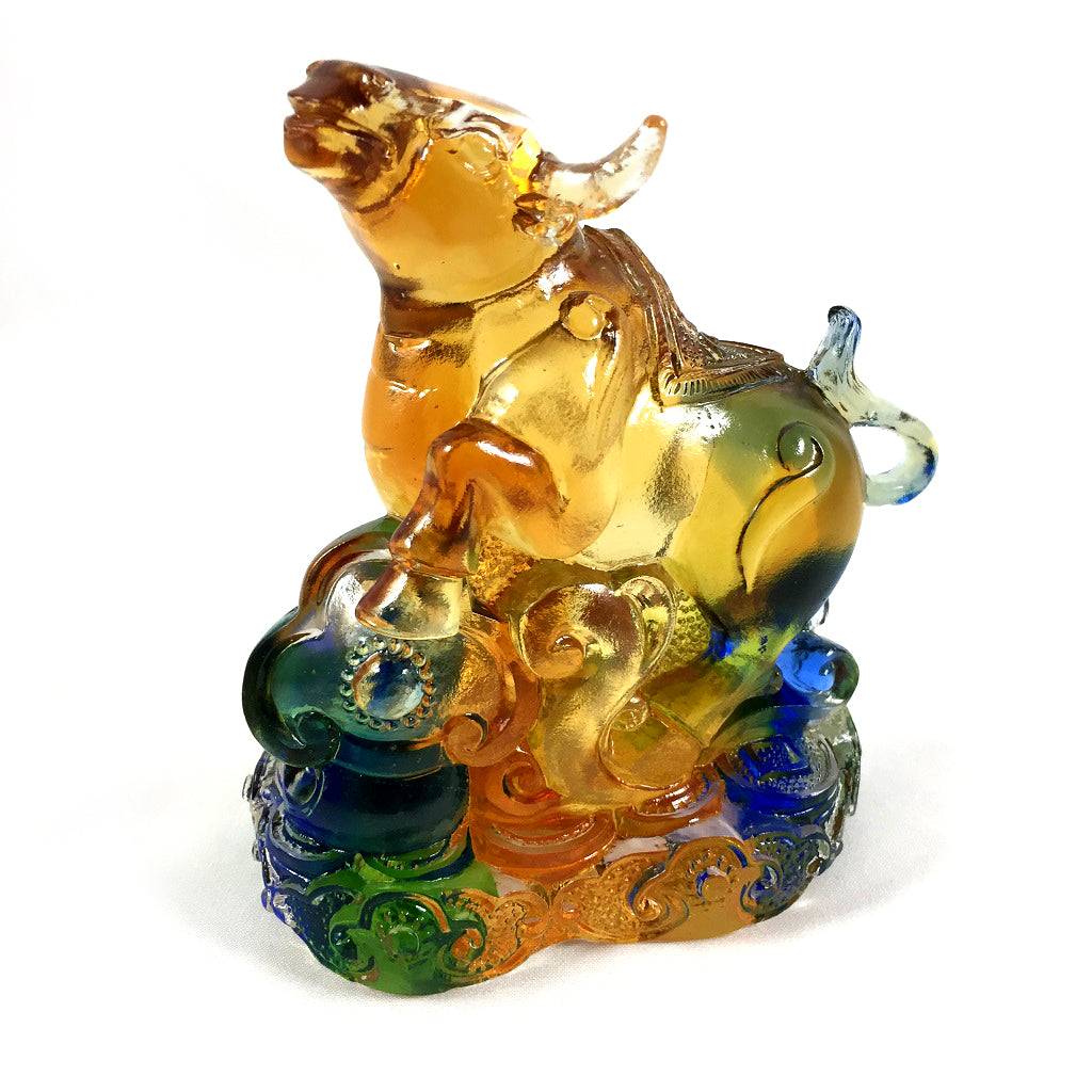 Amore Jewell Liuli Crystal Glass - New Ox  (the second animal of the Chinese Zodiac) ~ 12生肖