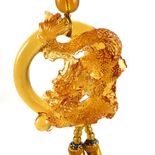 Load image into Gallery viewer, Amore Jewell Liuli Crystal Glass - Auspicious Dragon with  ball for car hanging ornament