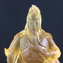 Load image into Gallery viewer, Kwan-Kong statue (Guan Gong - Guan Yu) in Amber color