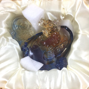 Amore Jewell Liuli Crystal Glass - Dragon Blessing ~ 鴻福避邪