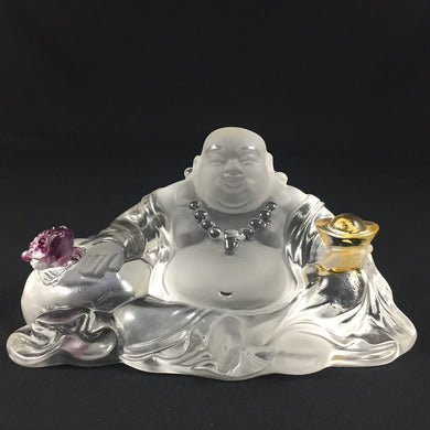 Amore Jewell Liuli Crystal Glass - Laughing Buddha Statues With Toad