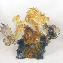 "Load image into Gallery viewer, Liuli Crystal Glass - Business blooming as ""Dragon"" -- 生意興隆(龍)"