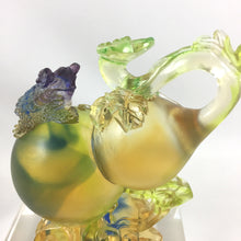 "Load image into Gallery viewer, Amore Jewell Liuli Crystal Glass - Wealthy life ""Toad on Gourd"" ~ 財富人生"