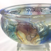 "Load image into Gallery viewer, Amore Jewell Liuli Crystal Glass ~ ""Golden times"" Goldfish Treasure bowl/fish tank ~ 金色年華"