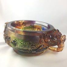 "Load image into Gallery viewer, Amore Jewell Liuli Crystal Glass - Bring wealth Treasure bowl ""Zhao Cai Jin Bao"" ~ 招財聚寶盆"