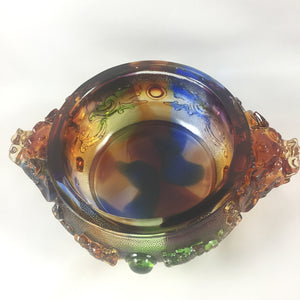 "Amore Jewell Liuli Crystal Glass - Bring wealth Treasure bowl ""Zhao Cai Jin Bao"" ~ 招財聚寶盆"