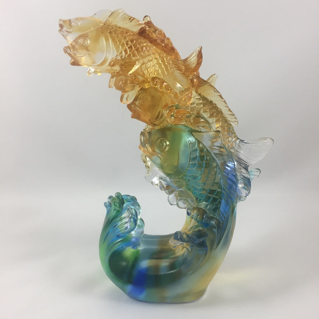 Amore Jewell Liuli Crystal Glass - Stepping up  Fish -