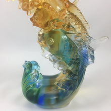 "Load image into Gallery viewer, Amore Jewell Liuli Crystal Glass - Stepping up  Fish - ""Bu Bu Kao Sheng"" ~ 步步高升魚"