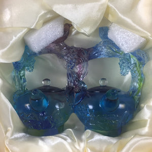 Amore Jewell Liuli Crystal Glass - Double Happiness teapots -- Huan Xi Hu ~ 歡喜壺