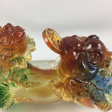 Load image into Gallery viewer, Amore Jewell Liuli Crystal Glass - Golden Toad Bring wealth ~ 招財金蟾