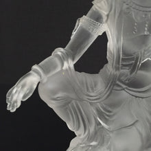 Load image into Gallery viewer, Amore Jewell Liuli Crystal Glass - Guanyin statue (Guan Yin buddha) in white color ~ Zi Zai Guanyin ~ 自在觀音