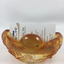 Load image into Gallery viewer, Liuli Crystal Glass - Yuan Bao (Ingot) business card holder