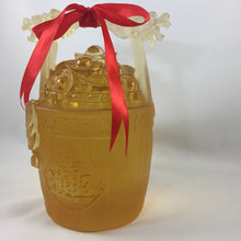 "Load image into Gallery viewer, Amore Jewell Liuli Crystal Glass - Lucky Fortune ""Bucket of gold and Ingots"" ~ 一桶金"