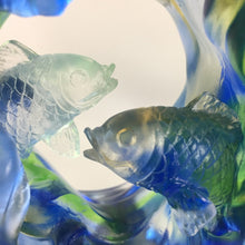 "Load image into Gallery viewer, Liuli Crystal Glass - Safe and sound fish in the bottle ""Ping An You Yu"""