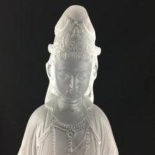 Load image into Gallery viewer, Amore Jewell Liuli Crystal Glass - Guanyin statue (Guan Yin buddha) in white color ~ Jin Pin Guanyin ~ 淨瓶觀音