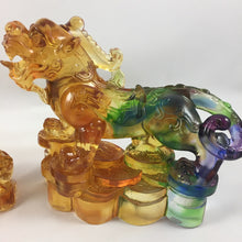 "Load image into Gallery viewer, Liuli Crystal Glass - Good Luck Brave Troops ""Pixiu"" 2pcs/set"