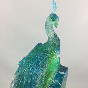 Amore Jewell Liuli Crystal Glass - Peacock ~孔雀