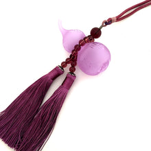 Load image into Gallery viewer, Amore Jewell Liuli Crystal Glass - Gourd bring Blessing and Wealth for car hanging ornament in purple color