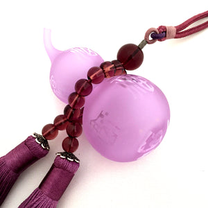 Amore Jewell Liuli Crystal Glass - Gourd bring Blessing and Wealth for car hanging ornament in purple color