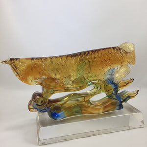 Liuli Crystal  Glass - Arowana (Dragon) Fish