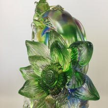 "Load image into Gallery viewer, Amore Jewell Liuli Crystal Glass - Lotus and Frog ""Peace & Perfect"" ~ 和和美美"