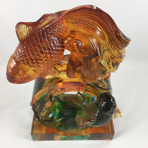 Amore Jewell Liuli Crystal Glass - Goldfish in the shape of 8 ~ 八字魚