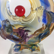 Load image into Gallery viewer, Amore Jewell Liuli Crystal Glass - Full-House Great Lucks Fish ~ 鴻運滿堂