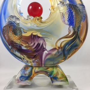 Amore Jewell Liuli Crystal Glass - Full-House Great Lucks Fish ~ 鴻運滿堂