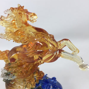 Amore Jewell Liuli Crystal Glass - Soaring aspirations Horse ~ 壯志凌雲馬