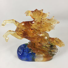 Load image into Gallery viewer, Amore Jewell Liuli Crystal Glass - Soaring aspirations Horse ~ 壯志凌雲馬