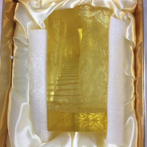 Amore Jewell Liuli Crystal Glass - Stepping up with Good Lucks (Small Mountain Road) ~ 小山路步步高
