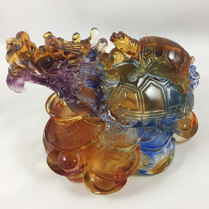 Amore Jewell Liuli Crystal Glass - Dragon turtle ~ 龍龜