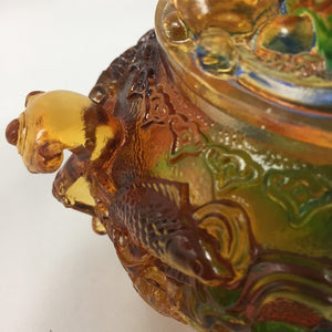 Amore Jewell Liuli Crystal Glass - Pixiu (Brave Troop) Treasure Bowl ~ 貔貅聚寶盆