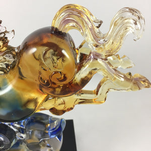 Amore Jewell Liuli Crystal Glass - Galloping  Horse ~ 奔馬