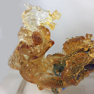 Amore Jewell Liuli Crystal Glass - Nine Dragons Ru-Yi (Large) 九龍如意