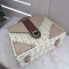 Load image into Gallery viewer, Fashion Ladies' bag - Elegant Handmade Woven PU Leather Clutch  Crossbody Purse  in White Color
