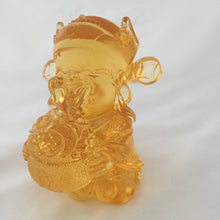 Load image into Gallery viewer, Large Ancient Coin - Gods (Fortune) of Five-Way Wealth in amber color - 五路財神-錢幣
